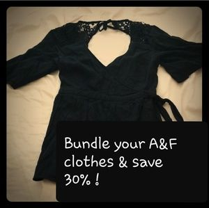 Bundle your Abercrombie clothes and save 30%!